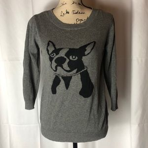 Jaclyn smith quarter sleeve French bulldog sweater